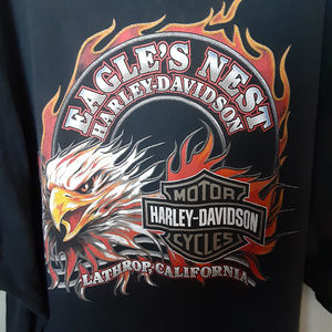 Harley-Davidson Men's Black Graphic T-Shirt
